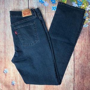 LEVI'S 505 Straight Dark Wash Jeans Size 10